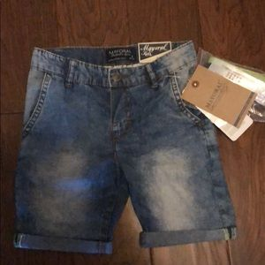 Boys Size 4 Mayoral Jean Shorts NWT